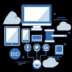 潮網科技自行開發PUNWAVE RTB 即時競價系統,整合Facebook、Twitter 、Google及國內外聯播網的PUNWAVE ATD廣告交易平台,提供廣告主及企業客戶一站式的行銷解決方案。