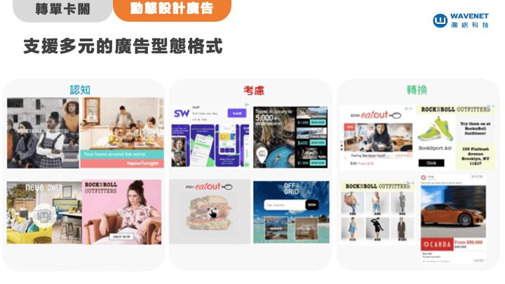 Criteo 也提供多元的廣告型態格式